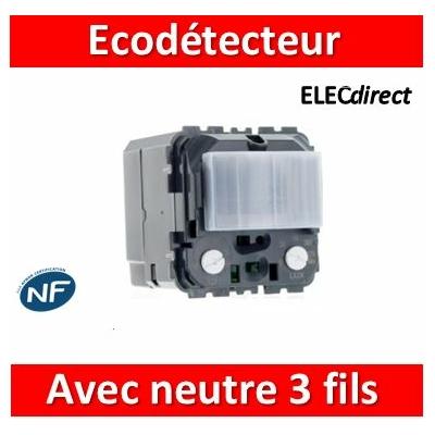 Legrand - Ecodétecteur basique 3 fils Céliane - avec Neutre - 067025