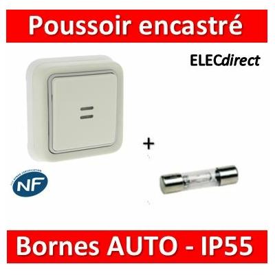 Legrand - Poussoir NO + NF Prog Plexo complet encastré blanc - 10A - 069861V