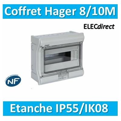 Hager - Tableau étanche IP55 - 8/10M - VE110F