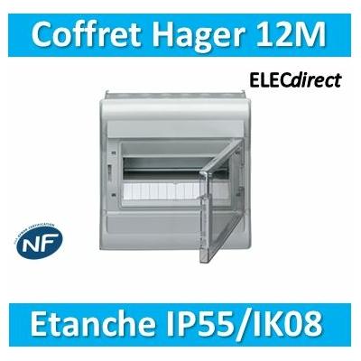 Hager - Tableau étanche IP55 - 12M - VE112F