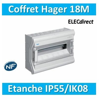 Hager - Tableau étanche IP55 - 18M - VE118F