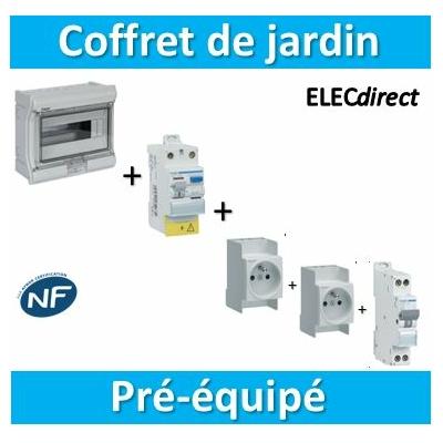 Hager - LOT PROS - Coffret de jardin IP55 - SNS216x2 + MFN716 + CDC742F + VE110F