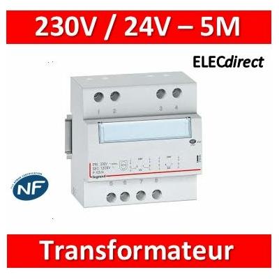 Legrand - Transformateur de sécurité - 230 V / 12 ou 24 V - 63 VA - 413098