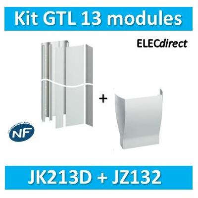 Hager - Kit GTL 13 Modules - 2 couvercles - 2x1,3m + jonction plafond / sol - JK213D+JZ132