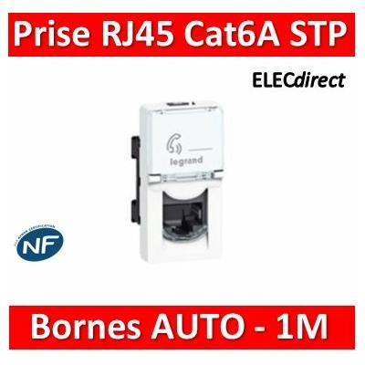 Legrand Prise RJ 45 Prog Mosaic - Cat.6A - STP - Blindage métal - 1 mod - blanc - LCS² 076573
