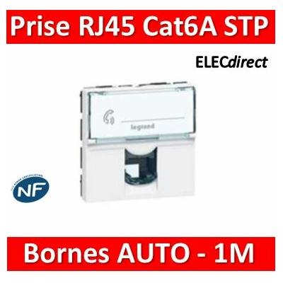 Legrand - Prise RJ 45 Prog Mosaic - Cat.6A - STP - 2 mod - blanc - LCS² - 076576