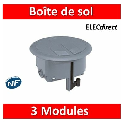 Legrand - Boîte de sol 3 modules H. minimum 80 - 089644