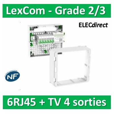 Schneider - Coffret VDI Grade 2 LexCom ECO-PACK 6 RJ45 - VDIR390024