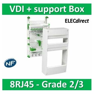 Schneider - Coffret communication avec emplacement BOX Grade 2 et 3 - VDIR390035
