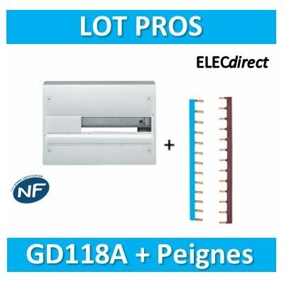 Hager - Coffret GAMMA 13 Modules - 1 R de 18M + peignes Ph+N - GD118A+KB163PG+KB163NG