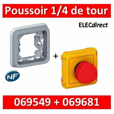 Legrand Plexo - Coupure d'urgence 3A - complet + boîte encastrée Plexo - 250V - IP55 - 069549+069681