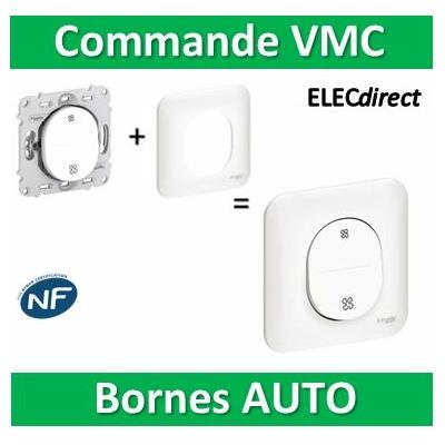 Schneider Ovalis - Interrupteur VMC 2 positions + Plaque - s260233