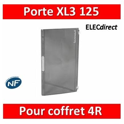 Legrand - Porte transparente XL³ 125 - IP 40-IK 09 pour coffret 4 rangées 401614 - 401874