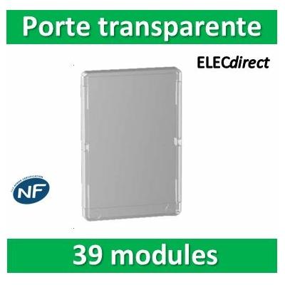 Schneider - Porte transparente pour coffret RESI9 - 13 modules 3 rangées - R9H13427