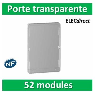 Schneider - Porte transparente pour coffret RESI9 - 13 modules 4 rangées - R9H13428