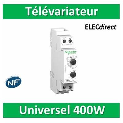 Schneider Multi9 - variateur DIN universel 400W - confort STD400LED+ commande éclairage - CCTDD20017