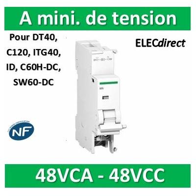 Schneider - MN Déclencheur à minimum de tension instantanée 48VCA - A9N26961