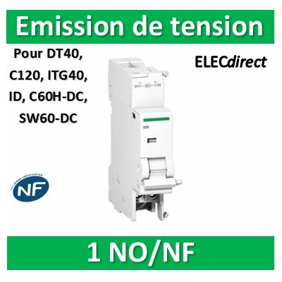Schneider - MX+OF déclench. à émission tension + contact aux. 100-415VCA 110-130VCC - A9N26946