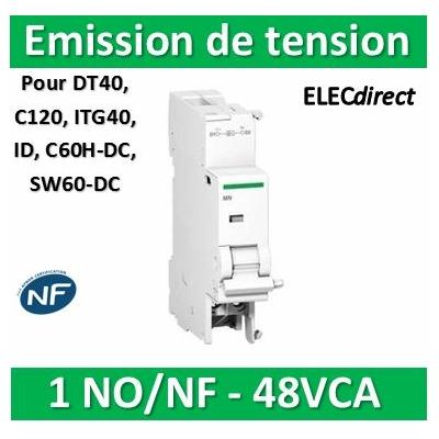 Schneider - MX+OF déclench. à émission tension + contact aux. 48VCA/CC - A9N26947
