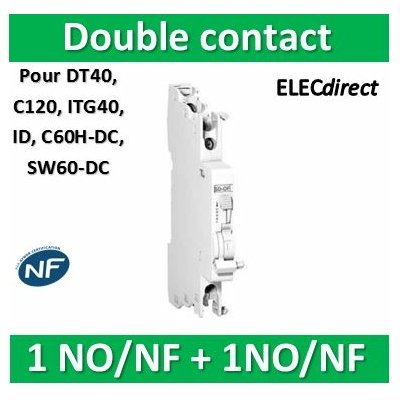 Schneider - OF/SD+OF double contact OF ou signal-défaut 240...415VCA 24...130VCC - A9N26929