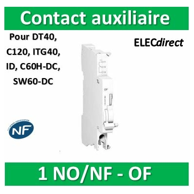 Schneider - OF contact auxiliaire OF 240...415VCA 24...130VCC - A9N26924