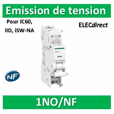 Schneider - iMX+OF déclench. à émission tension + contact aux. 100-415VCA 110-130VCC - A9A26946