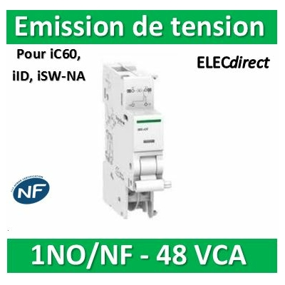 Schneider - iMX+OF déclench. à émission tension + contact aux. 48VCA/CC - A9A26947
