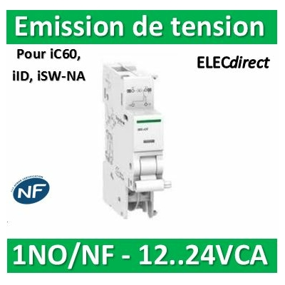 Schneider - iMX+OF déclench. à émission tension + contact aux. 12...24VCA/CC - A9A26948
