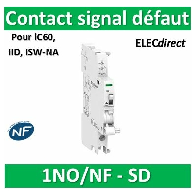 Schneider - iSD contact signal défaut 240...415VCA 24...130VCC - A9A26927