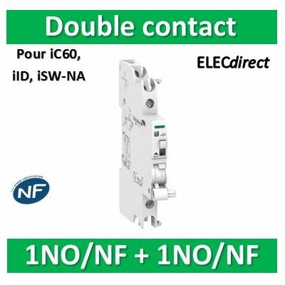 Schneider - iOF/SD+OF double contact OF ou signal-défaut 240...415VCA 24...130VCC - A9A26929