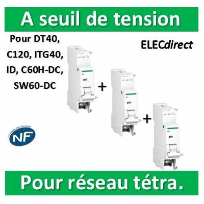 Schneider - MSU Déclencheur à seuil de tension 220 à 240 VCA - Réseau tétraphasé - A9N26500x3