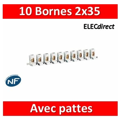 Legrand - Barrette de 10 bornes séparables 2 x 35 mm2