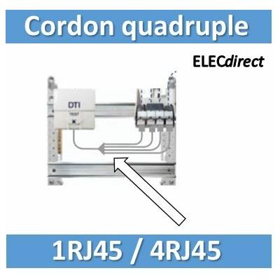 Tonna - Cordon quadruple téléphone RJ45 pour coffret avec brassage - 828618