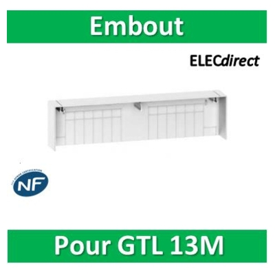 Schneider - Embout pour goulotte GTL Resi9 13 modules - R9H13539