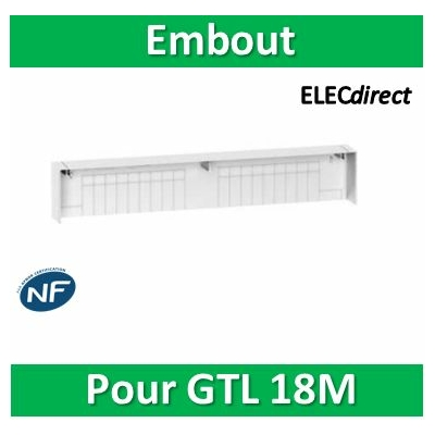 Schneider - Embout pour goulotte GTL Resi9 18 modules - R9H18539