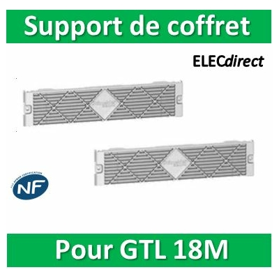 Schneider - Support de coffret Resi9 pour goulotte 18 modules jeu de 2 - R9H13541
