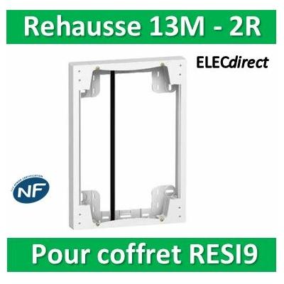 SCHNEIDER - Rehausse pour coffret RESI9 13M - 2R - R9H10759