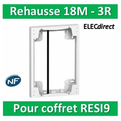 SCHNEIDER - Rehausse pour coffret RESI9 18M - 3R - R9H18760