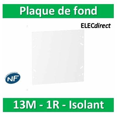 SCHNEIDER - Plaque de fond isolant pour coffret RESI9 13M - 1R - R9H13382