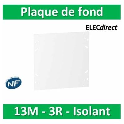 SCHNEIDER - Plaque de fond isolant pour coffret RESI9 13M - 3R - R9H13384