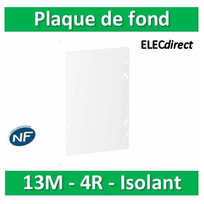 SCHNEIDER - Plaque de fond isolant pour coffret RESI9 13M - 4R - R9H13385