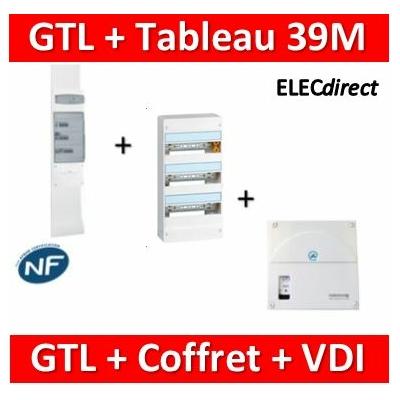 Legrand - Kit GTL 13M complet + tableau 39M + VDI 4RJ45 casanova - 030037+401213+TRIEGT14X
