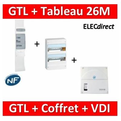 Legrand - Kit GTL 13M complet + tableau 26M + VDI 4RJ45 casanova - 030037+401212+TRIEGT14X