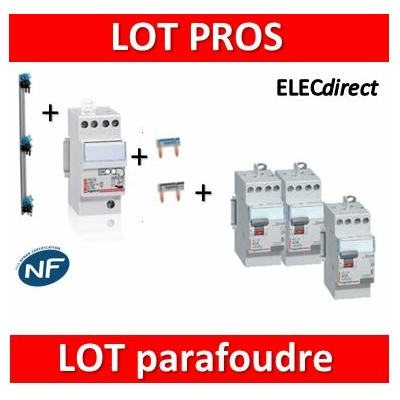 Legrand - Parafoudre bipolaire 220V - Type 2 + 2 Diff. 40A AC + 1 Diff. 40A A + Peignes V 3R + Peignes Ph+N 2M