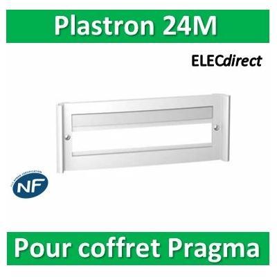 Schneider Pragma - plastron à fenêtre Blanc pour coffret 24 modules - PRA91015W