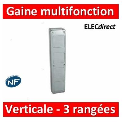 Legrand - Gaine multifonction pour coffrets Plexo - verticale - 3 rangées - 001918