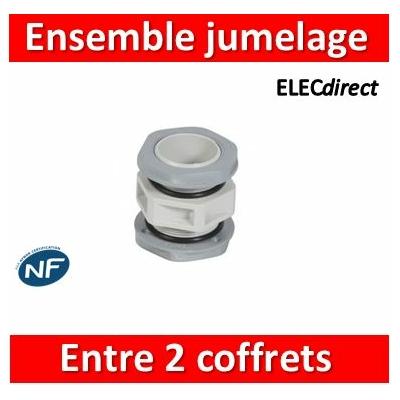 Legrand - Ensemble de jumelage Plexo - passage entre 2 coffrets ou gaines multifonctions - 001967