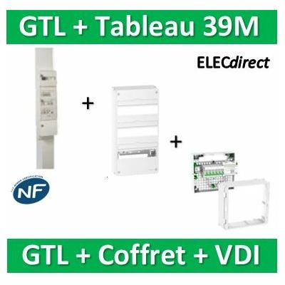 Schneider - Pack GTL 13M + Tableau RESI9 39M + VDI 6RJ45 - R9HKT13+R9H13403+390026