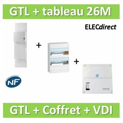 Rehau - Kit Cofralis - GTL  13M + tableau Legrand 26M + VDI 4RJ45 Casanova - 733808+401212+TRIETG14X4