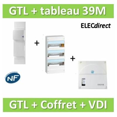 Rehau - Kit Cofralis - GTL 13M + tableau Legrand 39M + VDI 4RJ45 Casanova - 733808+401213+TRIETG14X4